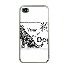 Year Of The Dog   Chinese New Year Apple Iphone 4 Case (clear)
