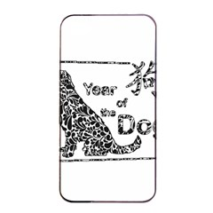 Year Of The Dog   Chinese New Year Apple Iphone 4/4s Seamless Case (black)