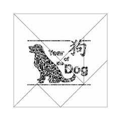 Year Of The Dog   Chinese New Year Acrylic Tangram Puzzle (6  X 6 )