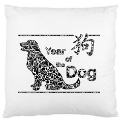 Year Of The Dog   Chinese New Year Large Cushion Case (two Sides)