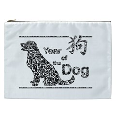 Year Of The Dog   Chinese New Year Cosmetic Bag (xxl)
