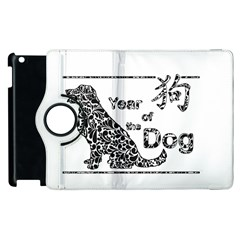 Year Of The Dog   Chinese New Year Apple Ipad 3/4 Flip 360 Case