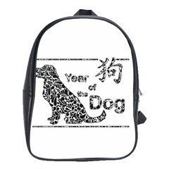 Year Of The Dog   Chinese New Year School Bag (xl)