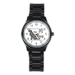 Year Of The Dog   Chinese New Year Stainless Steel Round Watch