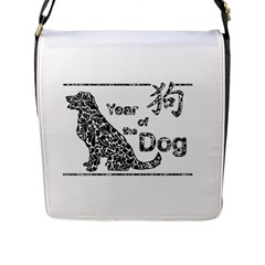 Year Of The Dog   Chinese New Year Flap Messenger Bag (l)