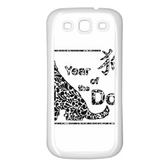 Year Of The Dog   Chinese New Year Samsung Galaxy S3 Back Case (white)