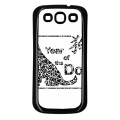 Year Of The Dog   Chinese New Year Samsung Galaxy S3 Back Case (black)