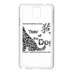 Year Of The Dog   Chinese New Year Samsung Galaxy Note 3 N9005 Case (white)