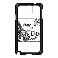 Year Of The Dog   Chinese New Year Samsung Galaxy Note 3 N9005 Case (black)
