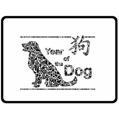 Year Of The Dog   Chinese New Year Double Sided Fleece Blanket (large)
