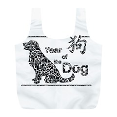 Year Of The Dog   Chinese New Year Full Print Recycle Bags (l)