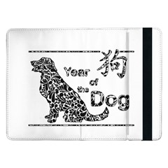 Year Of The Dog   Chinese New Year Samsung Galaxy Tab Pro 12 2  Flip Case