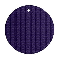 Color Of The Year 2018   Ultraviolet   Art Deco Black Edition Ornament (round)