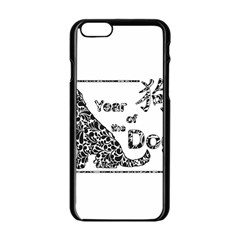 Year Of The Dog   Chinese New Year Apple Iphone 6/6s Black Enamel Case