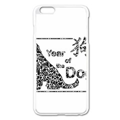 Year Of The Dog   Chinese New Year Apple Iphone 6 Plus/6s Plus Enamel White Case