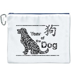 Year Of The Dog   Chinese New Year Canvas Cosmetic Bag (xxxl)