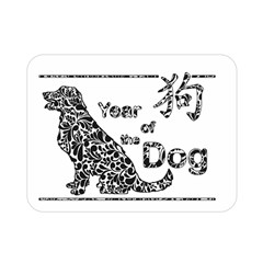 Year Of The Dog   Chinese New Year Double Sided Flano Blanket (mini)