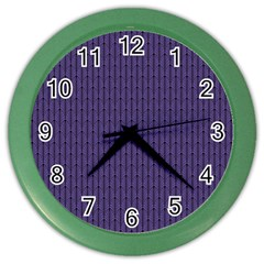 Color Of The Year 2018   Ultraviolet   Art Deco Black Edition Color Wall Clocks