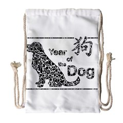 Year Of The Dog   Chinese New Year Drawstring Bag (large)