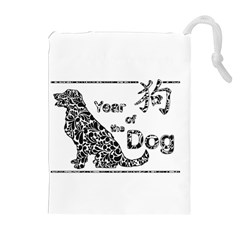 Year Of The Dog   Chinese New Year Drawstring Pouches (extra Large)