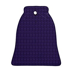Color Of The Year 2018   Ultraviolet   Art Deco Black Edition Bell Ornament (two Sides)