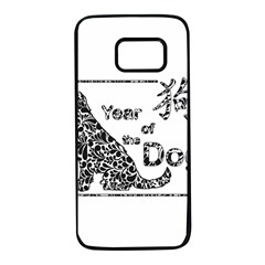Year Of The Dog   Chinese New Year Samsung Galaxy S7 Black Seamless Case