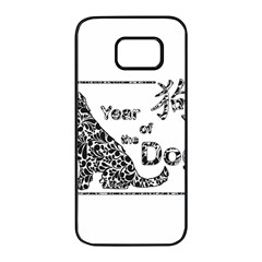 Year Of The Dog   Chinese New Year Samsung Galaxy S7 Edge Black Seamless Case