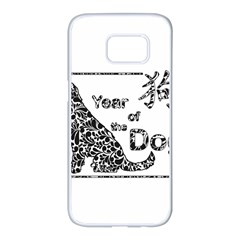 Year Of The Dog   Chinese New Year Samsung Galaxy S7 Edge White Seamless Case
