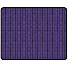 Color Of The Year 2018   Ultraviolet   Art Deco Black Edition Double Sided Fleece Blanket (medium)