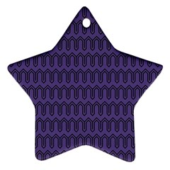 Color Of The Year 2018   Ultraviolet   Art Deco Black Edition Ornament (star)