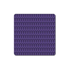 Color Of The Year 2018   Ultraviolet   Art Deco Black Edition Square Magnet