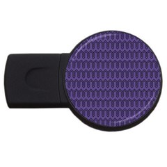 Color Of The Year 2018   Ultraviolet   Art Deco Black Edition Usb Flash Drive Round (4 Gb)