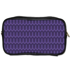 Color Of The Year 2018   Ultraviolet   Art Deco Black Edition Toiletries Bags