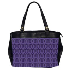Color Of The Year 2018   Ultraviolet   Art Deco Black Edition Office Handbags (2 Sides)