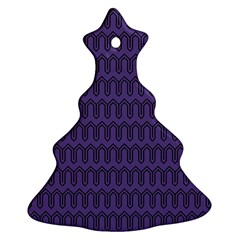 Color Of The Year 2018   Ultraviolet   Art Deco Black Edition Christmas Tree Ornament (two Sides)