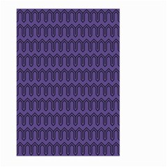 Color Of The Year 2018   Ultraviolet   Art Deco Black Edition Large Garden Flag (two Sides)