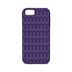 Color Of The Year 2018   Ultraviolet   Art Deco Black Edition Apple Iphone 5 Classic Hardshell Case (pc+silicone)