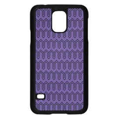 Color Of The Year 2018   Ultraviolet   Art Deco Black Edition Samsung Galaxy S5 Case (black)