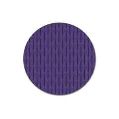 Color Of The Year 2018   Ultraviolet   Art Deco Black Edition Magnet 3  (round)