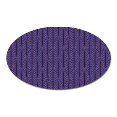 Color Of The Year 2018   Ultraviolet   Art Deco Black Edition Oval Magnet