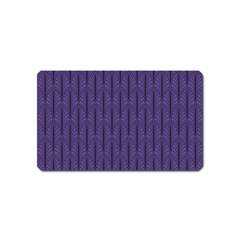 Color Of The Year 2018   Ultraviolet   Art Deco Black Edition Magnet (name Card)
