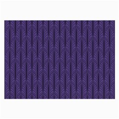 Color Of The Year 2018   Ultraviolet   Art Deco Black Edition Large Glasses Cloth (2 Side)