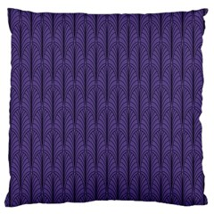 Color Of The Year 2018   Ultraviolet   Art Deco Black Edition Large Cushion Case (one Side)