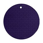 Color of the Year 2018 - Ultraviolet - Art Deco Black Edition Round Ornament (Two Sides) Back