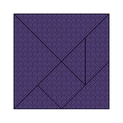 Color Of The Year 2018   Ultraviolet   Art Deco Black Edition Acrylic Tangram Puzzle (6  X 6 )