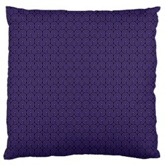 Color Of The Year 2018   Ultraviolet   Art Deco Black Edition Standard Flano Cushion Case (one Side)