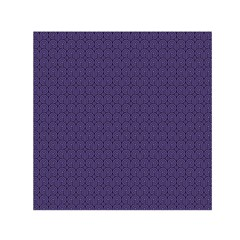 Color Of The Year 2018   Ultraviolet   Art Deco Black Edition Small Satin Scarf (square)