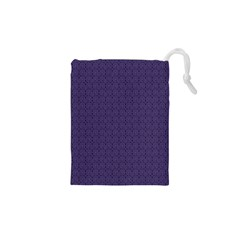 Color Of The Year 2018   Ultraviolet   Art Deco Black Edition Drawstring Pouches (xs)