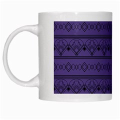 Color Of The Year 2018   Ultraviolet   Art Deco Black Edition White Mugs