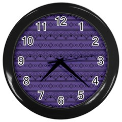 Color Of The Year 2018   Ultraviolet   Art Deco Black Edition Wall Clocks (black)